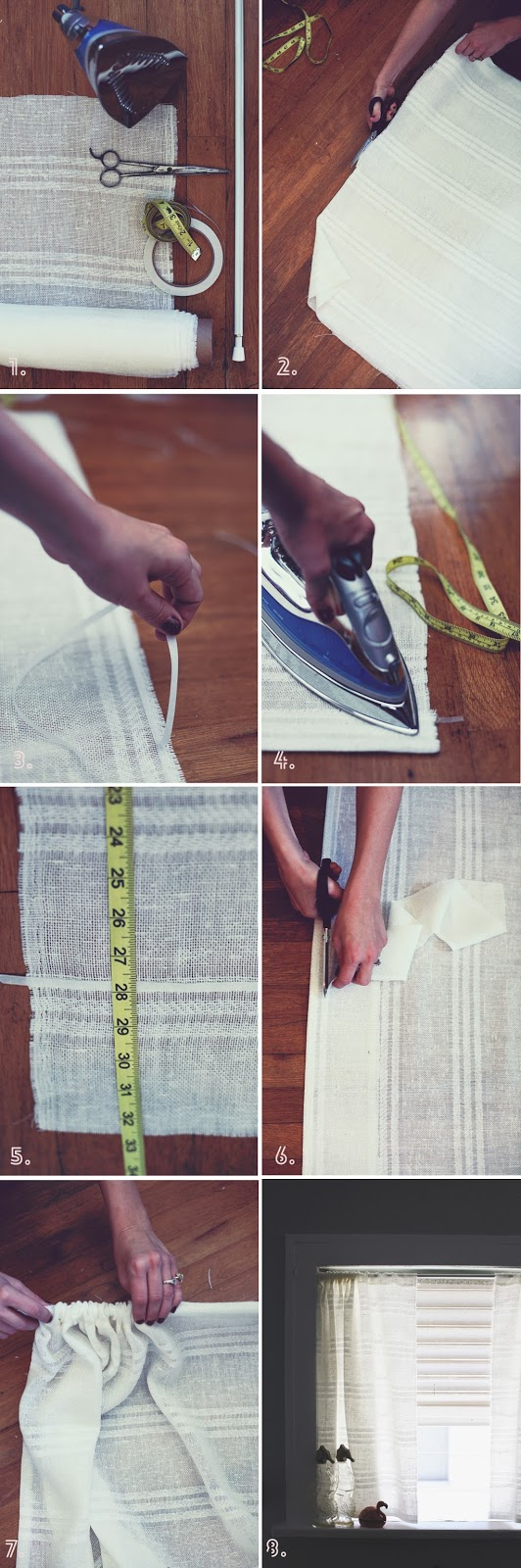 hemming curtains without sewing machine
