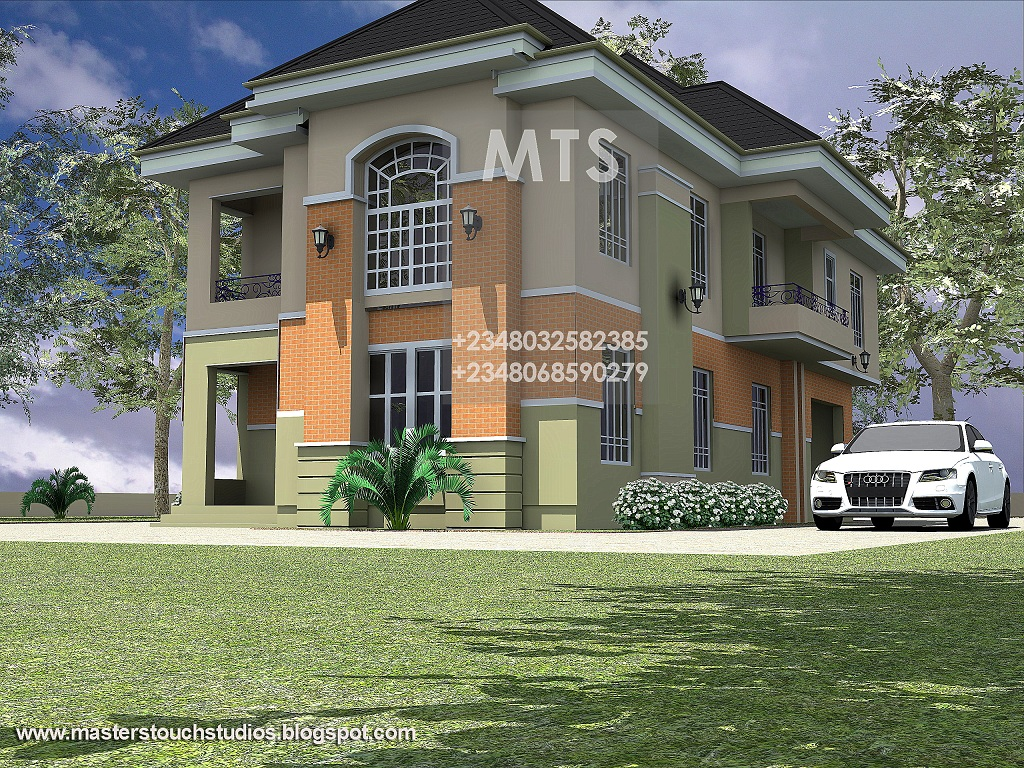 Mrs ifeoma 4 bedroom duplex residential homes and public for Modern duplex house plans in nigeria