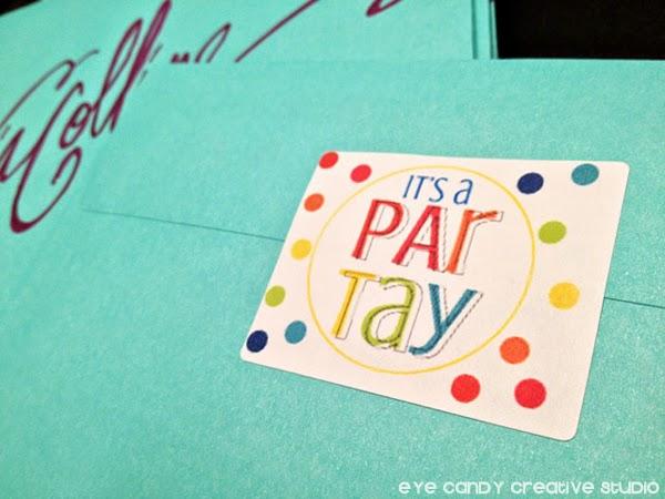 party envelope labels, it's a party, online labels, rainbow loom party invites