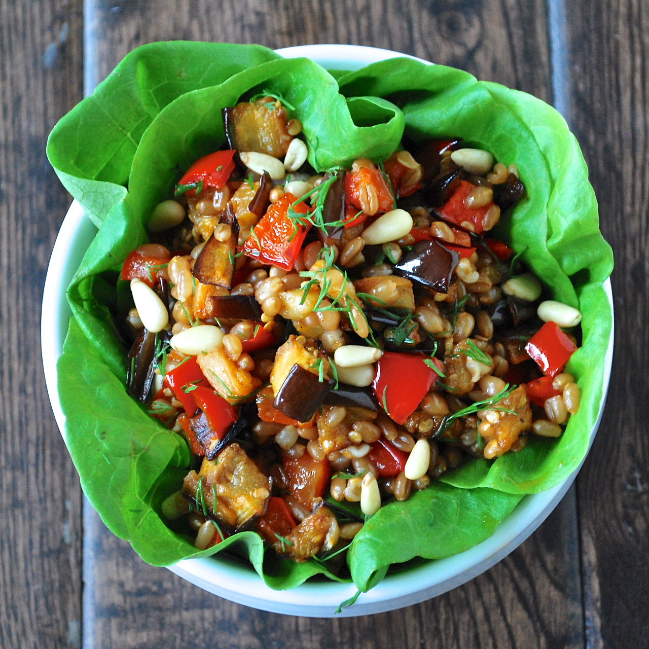 ... Area Personal Chef: tunisian spiced roasted eggplant & pepper salad