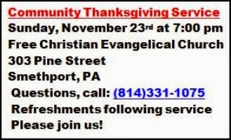 11-23 Community Thanksgiving Service