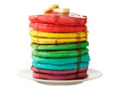 Resep Pancake Rainbow & Cara Membuat Pancake Rainbow\