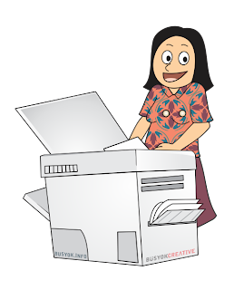 Young businesswoman making copies on the photocopy machine