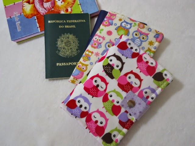 Porta Passaporte de Corujinhas
