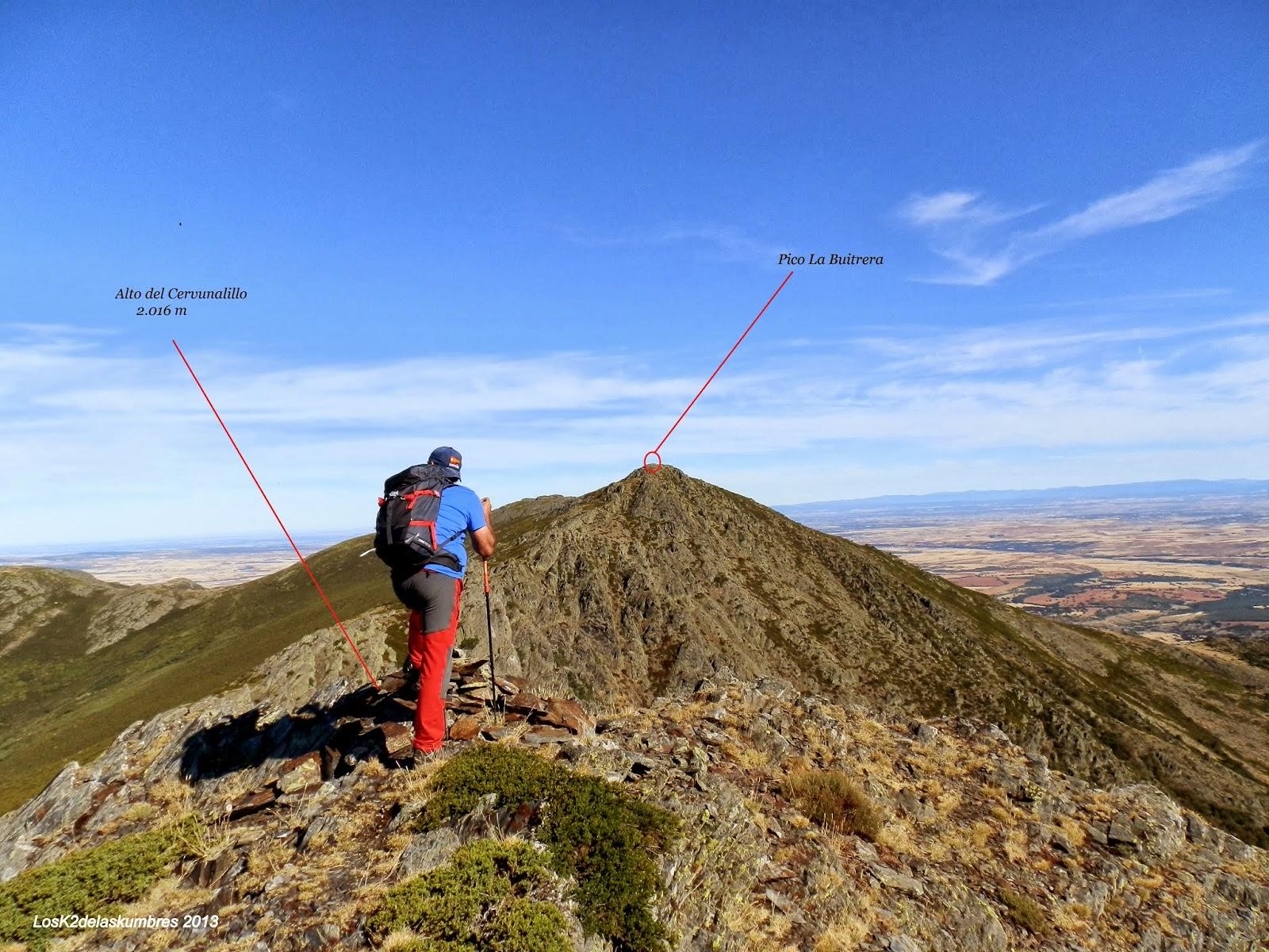 El Cervunalillo hacia el Pico la Buitrera