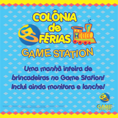 Colônia de férias no Game Station do Shopping Metropolitano Barra