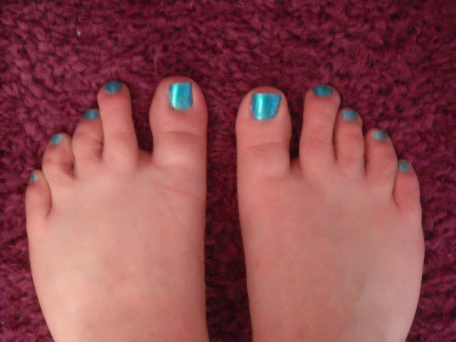 Ha Bisky! Nails: Pedicure and Blue Franken