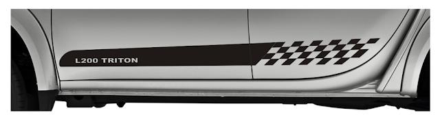 Faixa lateral kit adesivo para pick-up Mitsubishi L200 Triton peças acessórios LA x11auto