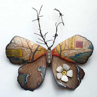 mariposa insecto metal