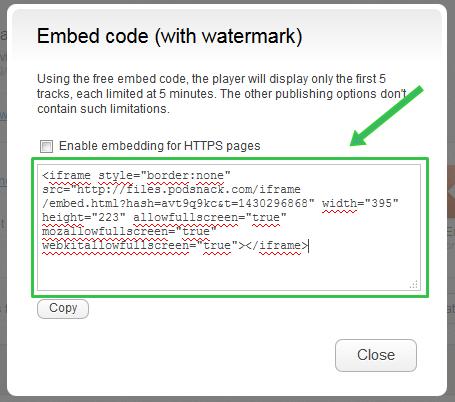 Embed Widget Musik Code with Watermark