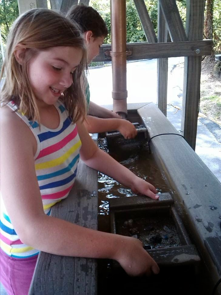 Kids gold mining in Tennessee.