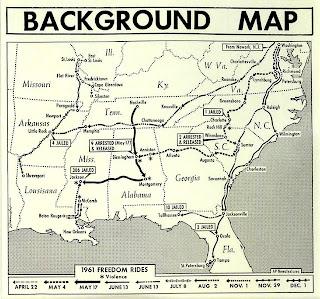 Background Map: 1961 Freedom Rides