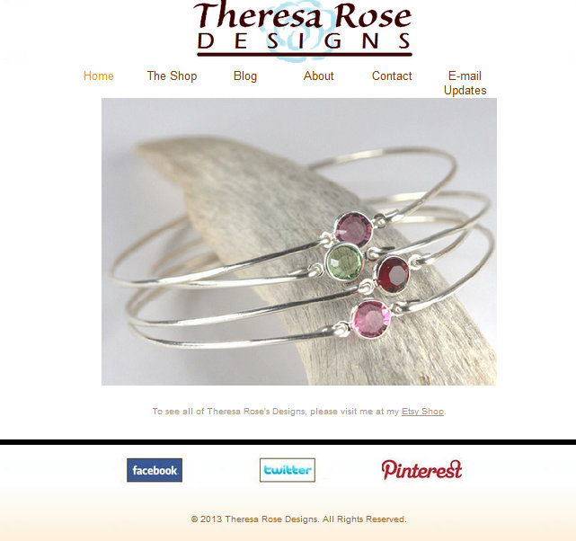Theresa Rose Designs Website