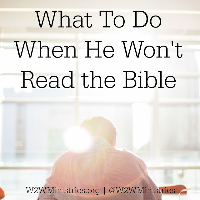 What to do when he won't read the Bible. #marriage #Bible