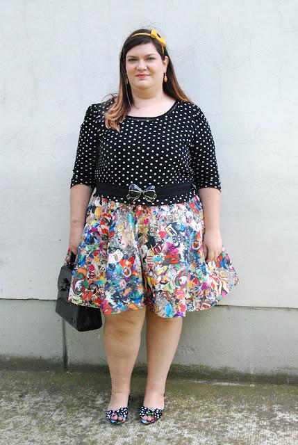 outfit plus size curvy taglie comode cartoon  Freestyle Xtreeme