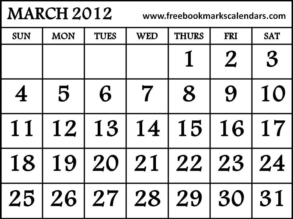 Blank Park Zoo Calendar : Blank calendar big spaces autos post