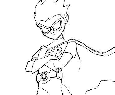 #3 Robin Coloring Page