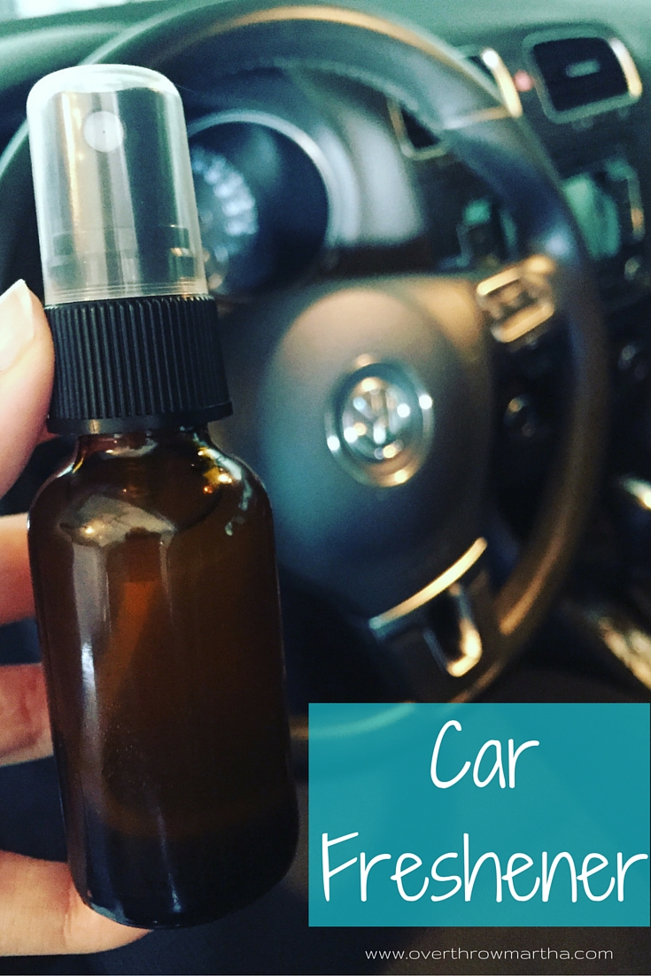 #DIY car freshener with #essentialoils. This makes my car smell amazing!