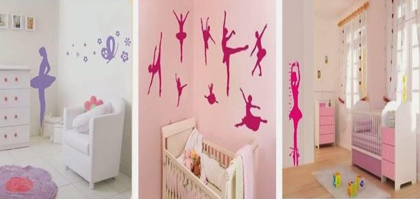 Decoracao De Quarto Tema Bailarina ~   Ideias de decora??o para Quartinho de beb? Menina (Tema Bailarina