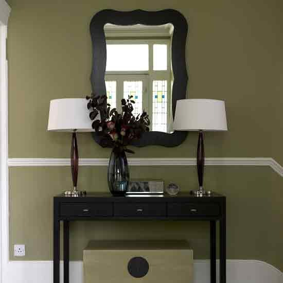 Small Foyer Table Lamps : New home interior design modern hallway