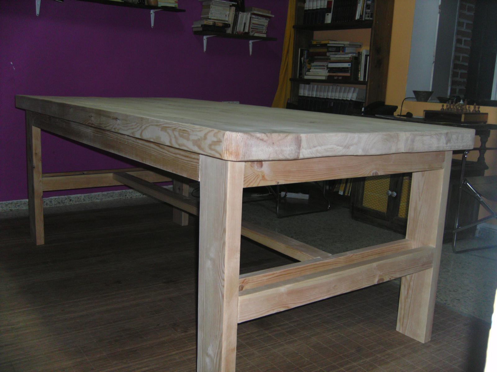 Mesa de madera for Construir mesa de madera