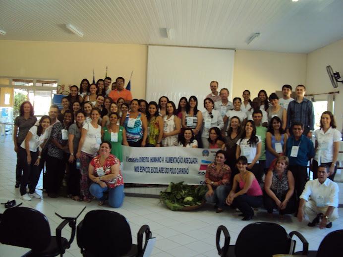 Seminário DHAA nos espaços escolares do Pólo Caparaó (Novembro 2010)