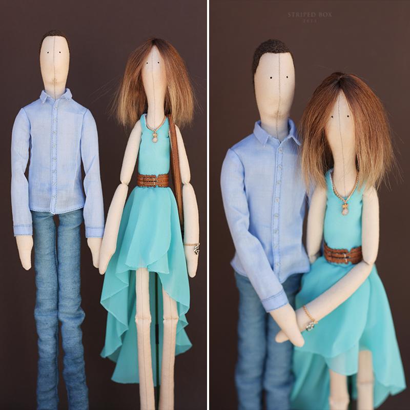 Портретные куклы тильда