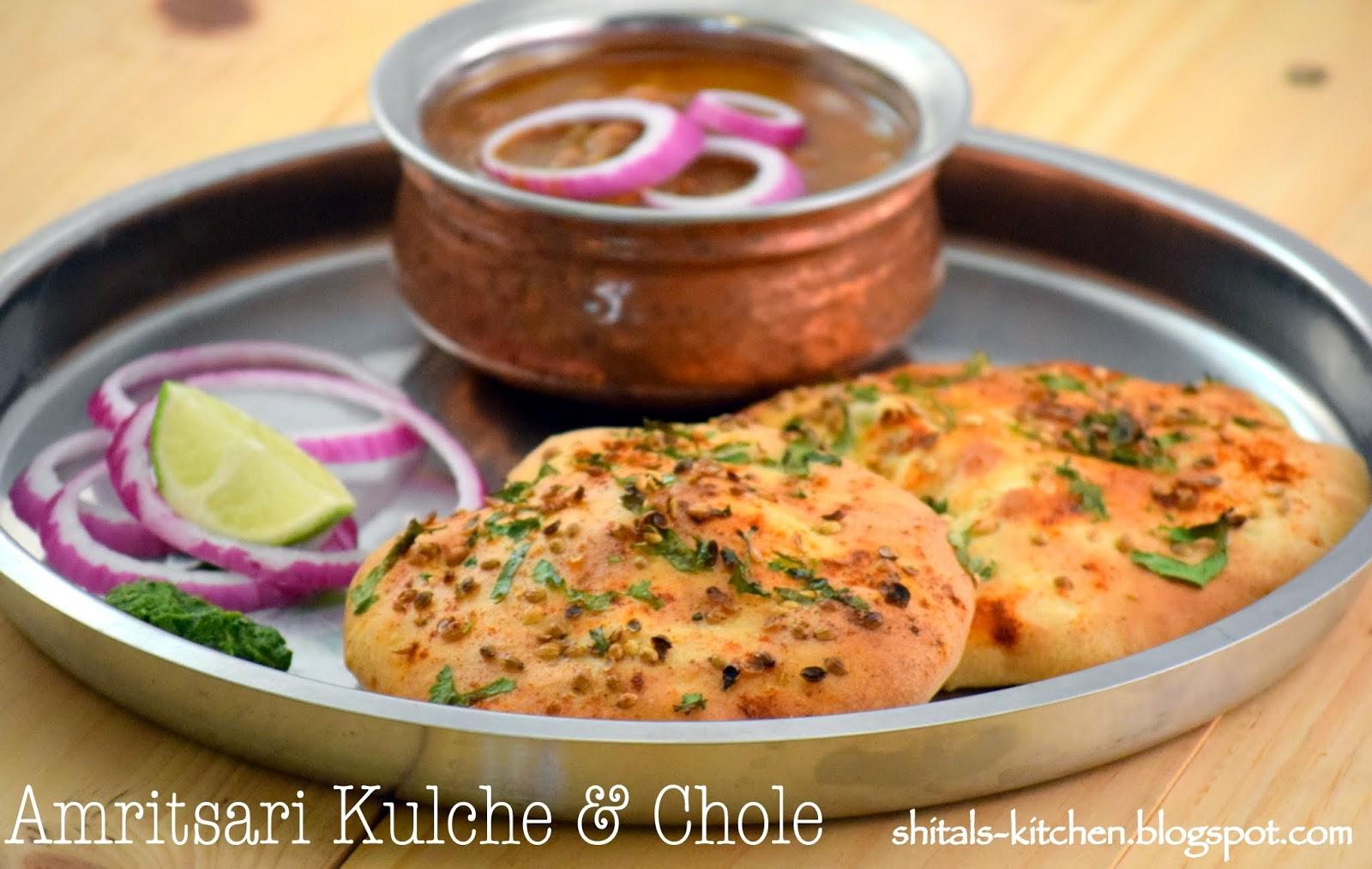 Shital 39 s kitchen amritsari kulcha chole for Amritsari cuisine