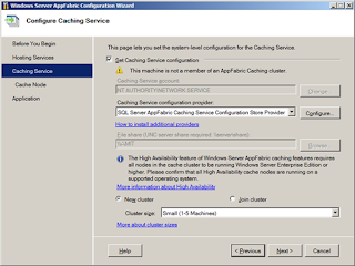 Configure windows server appfabric