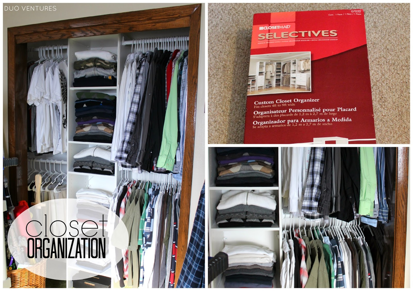 Duo Ventures Organizing My Brother 39 S Closet