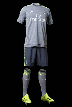 segunda equipación Real Madrid 2015 2016 camiseta pantalones y medias