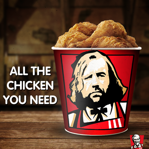 kfc game of thrones hound chicken meme