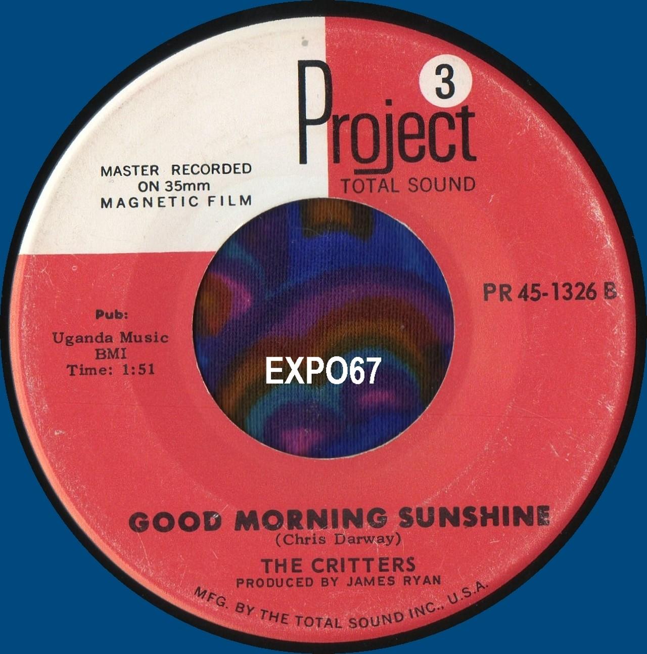 Good Morning Sunshine My Only Sunshine : The critters good morning sunshine