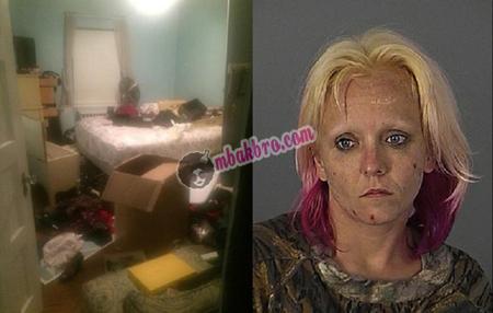 kamar yang diacak-acak pecandu narkoba