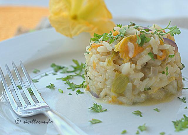 Risotto ai fiori di zucchina ricetta classica