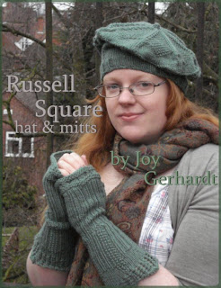 Russell Square Joyuna pattern knitting bundle matching mitts and beret set