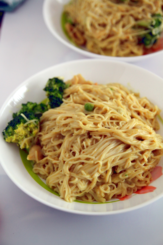 Creamy Coconut Peanut Curry Noodles Vondelicious!