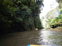 on the way rafting at ayung river
