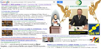 Máfia Portuguesa; Político Negócios; Norte; Padre; Banco BES Perdoa Dívida; Vereador do CDS; Eleito Ilegalmente á Câmara do Porto; Corrupção