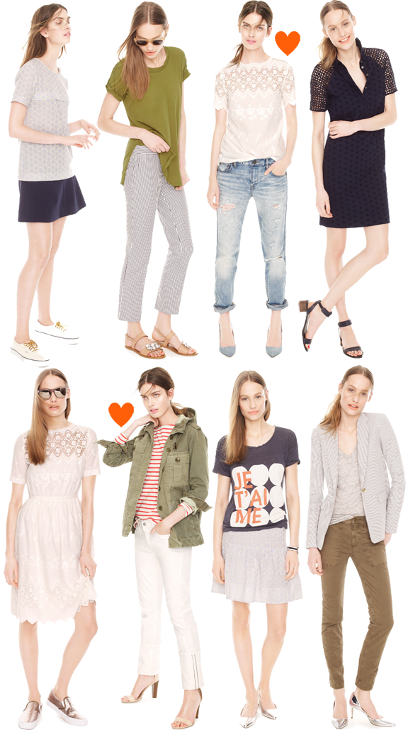 Lace J.crew looks we love fall collection