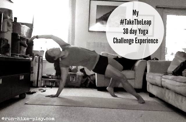 My TakeTheLeap 30 day yoga challenge Experience
