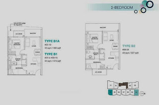 Rezi 3Two 2 bedrooms Floor Plan