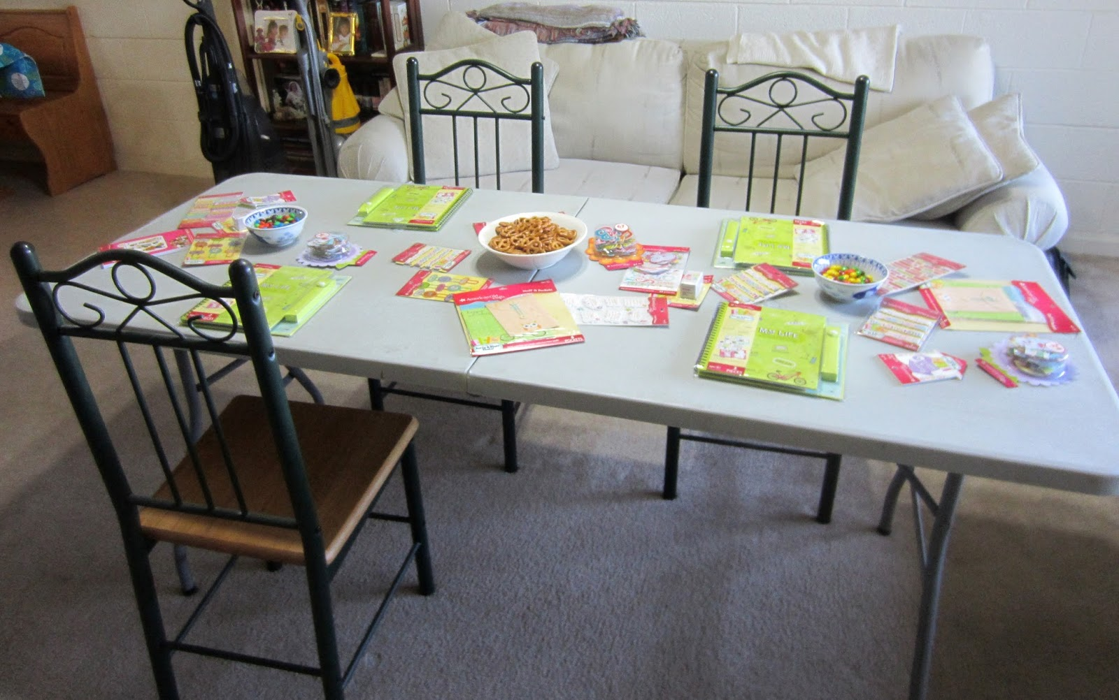 Girl scout scrapbook ideas - This Time Houseparty Sent Us 12 Of The My Life Scrapbooks Along With A Plethora Of Embellishments For The Girls To Decorate Them With