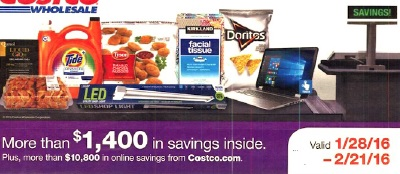 Current Costco Coupon February 2016