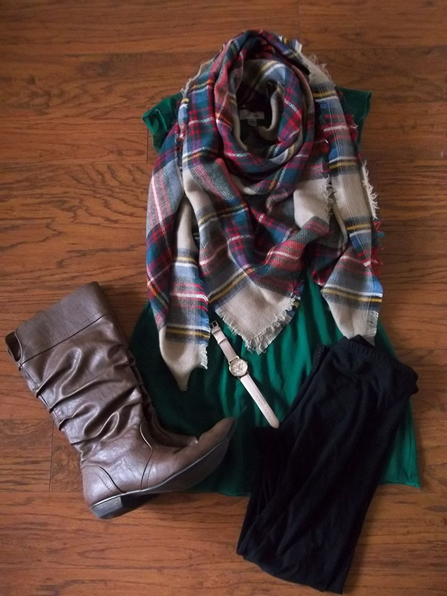 emerald green dress two ways scarf gold watch dressember outfit inspiration