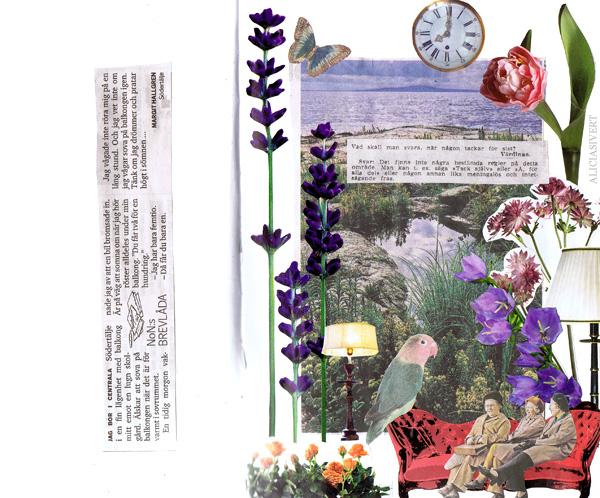 aliciasivert alicia sivertsson collage sköna hem drömhem och trädgård dagens nyheter scrapbook scrap book pensionärer tack värdinna