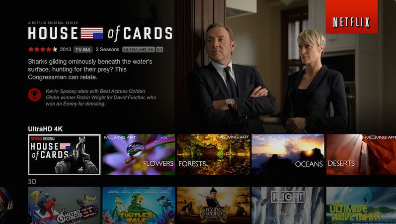 House of Cards in Netflix UltraHD 4K