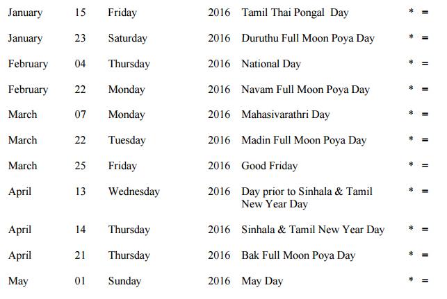 sri lanka calendar 2017 with holidays pdf