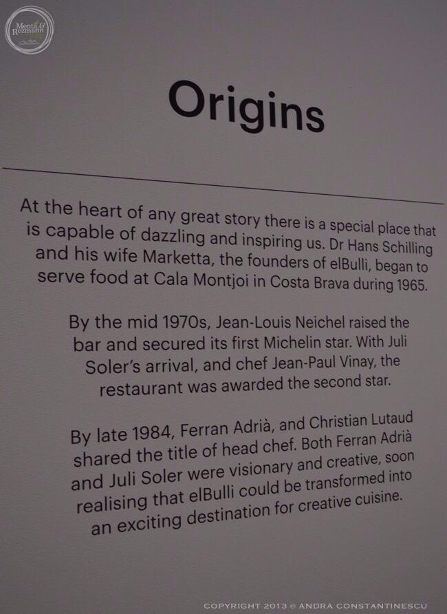 """An audience with Ferran Adria"" si expozitia ""El Bulli: Ferran Adria and The Art of Food"""