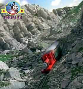 Thomas the tank engine and friends Rheneas train & The Roller Coaster ride on Sodor Mountains